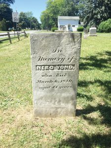 Nero Vond's tomb stone at the Dunbar Road Cemetery. Provided photo