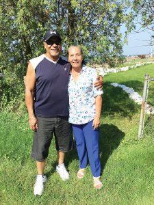 William Jones and Lonie Wilson from Houston, Texas, descendants of Nero Vond. Provided photo