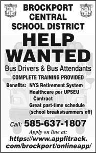 Brockport School Bus Driver 2x4 2018
