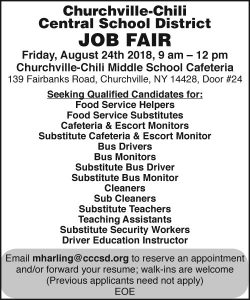 Churchvilee-Chili School Job Fair
