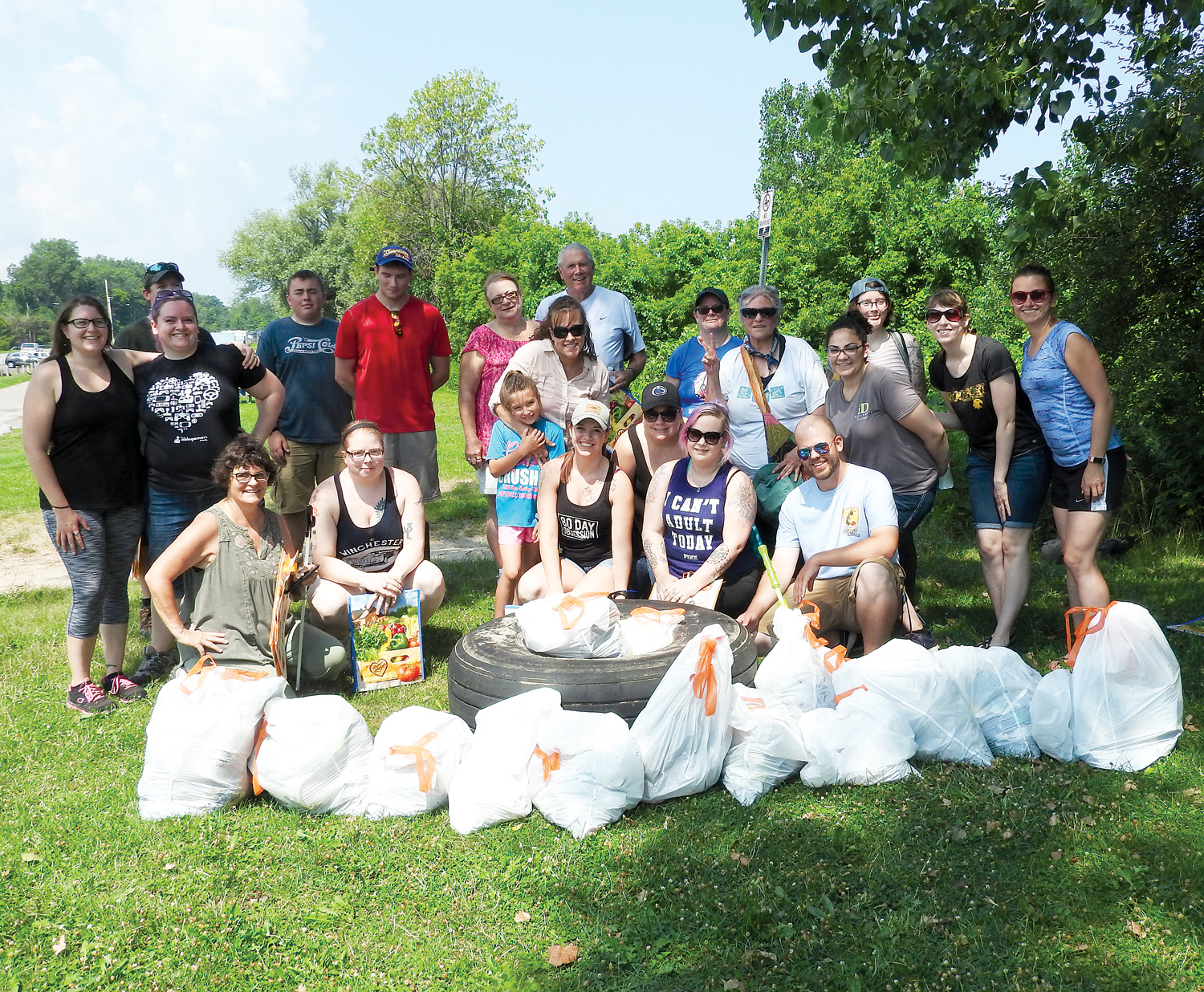 More than 20 volunteers attended the August cleanup.