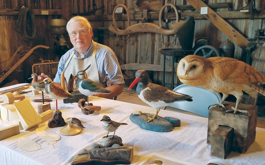 """Al Cretney is a well-known woodcarver who specializes in carving birds. He has exhibited his work in craft shows across the United States. """"I do it to fill my free time,"""" he says."""