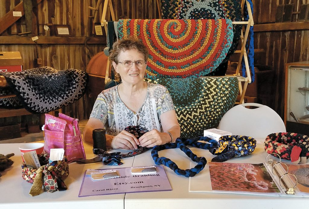 A beautiful display of rag rugs was shown by Carol Rizzo