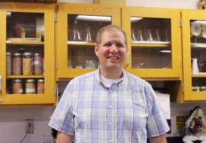 Jeffery Parnapy in his classroom. Photo by Gretchen Spittler