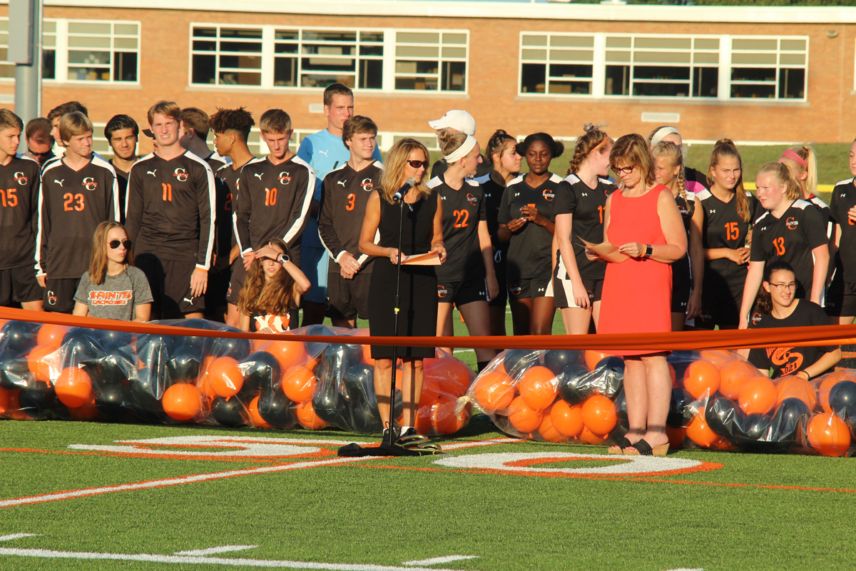 A ribbon cutting ceremony was held on September 4 for the new turf field in Churchville-Chili's stadium. Provided photos
