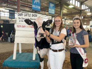Emily Mikel and her cow, Bingo, received the award for 4-H Master Showman at the New York State Fair.