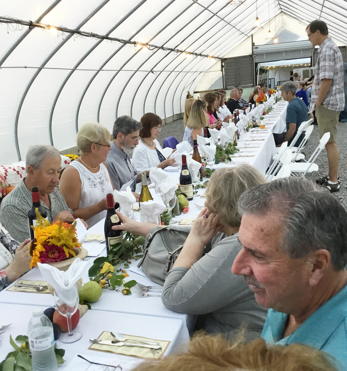 "Generous fare and good company were part of last year's ""Farm to Table Fundraiser"" at Kirby Farms. Provided photo"