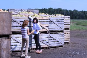 Mary Dellapenna and Shannon Kyle at Torrey Farms. Photo by Gretchen Spittler