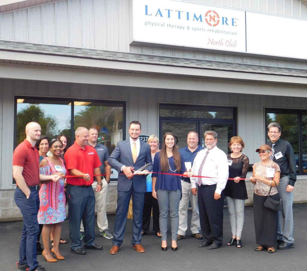 Jeremy Sajdak, his staff, members of the Gates Chili Chamber of Commerce and town officials were on hand for the ribbon cutting. Provided photo
