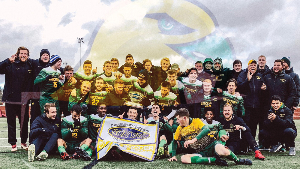 The College at Brockport men's soccer team. Provided photo