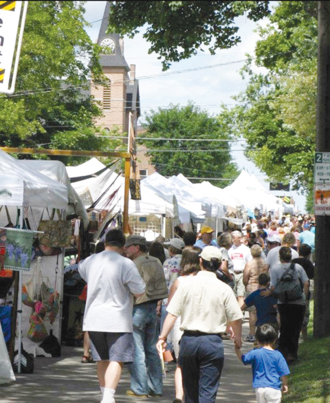 Festival goers fill Main Street during the 2018 Brockport Arts Festival. Provided photo