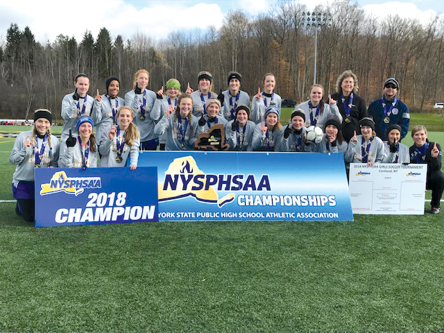 Kendall girls soccer team won the first state championship in school history. Provided photo