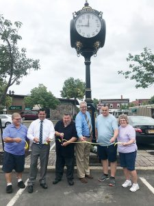 Hilton's Victorian-style clock in Hovey Square was refurbished and rededicated in August thanks to donations from the Hilton-Parma-Hamlin Chamber of Commerce, Hilton Family Restaurant and Thomas E. Burger Funeral Home.