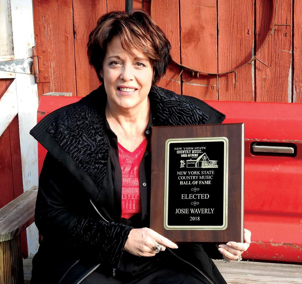 Hilton's Josie Waverly was inducted into the New York State Country Music Hall of Fame in October. Photo by Karen Fien
