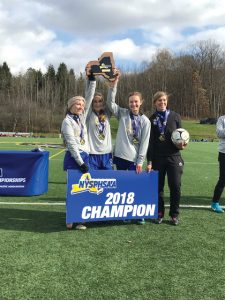 The Kendall girls soccer team won the first state championship in school history by defeating Fort Ann 1-0 in the Class D1 final on November 11.