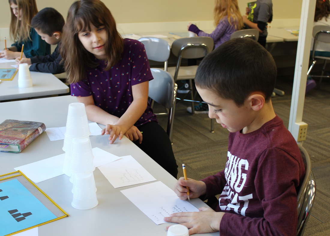 The floor plan of the makerspace is flexible, allowing students to easily collaborate and experiment.
