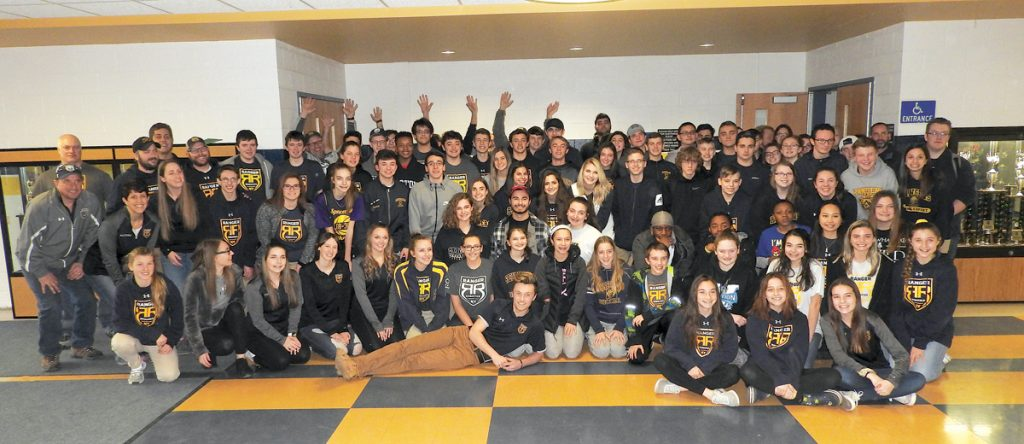 Spencerport's Team 3015 consists of over 70 students, two high school technology teachers and 15 adult mentors from industry. Photo by Karen Fien