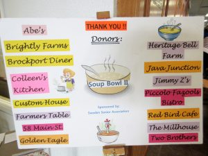 Donors of the 2019 Soup Bowl.