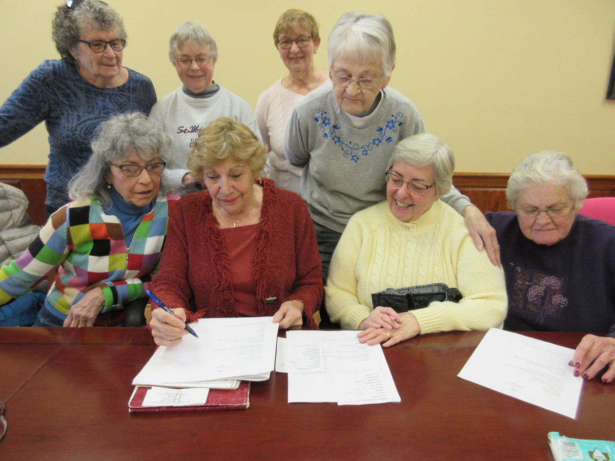 The SSAI's Soup Bowl Committee is making plans for this year's January 26 event. Front row (l-r): Anita Wicks; Roz Smith, Chair; Marcia McCarthy; Bonnie Behage. Back row: Lorraine Butz; Andrea Perry; Betty Coopenberg; and Joan Lavell. Provided photo