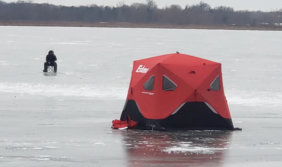 Ice fishing with the new shelters and warm clothes they have out these days, an angler can stay as warm as if they were in their own living room. Provided photo