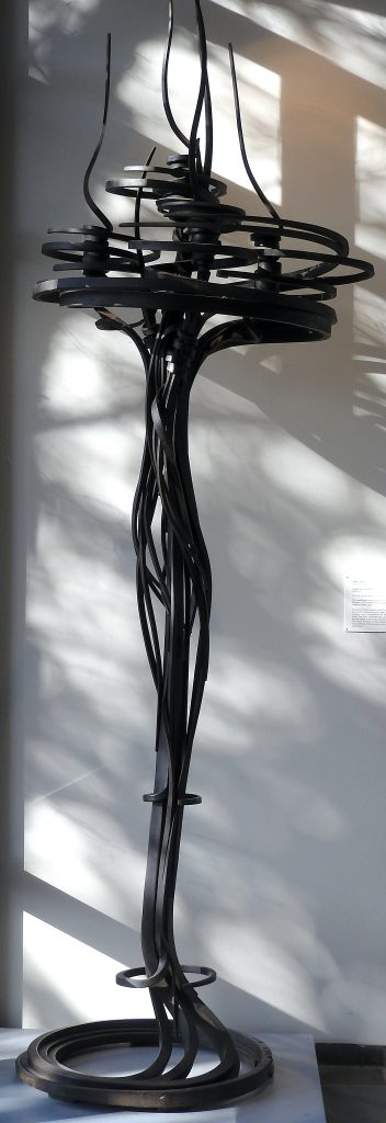 """""""Candlestick"""" Candelabrum located at Memorial Art Gallery, Rochester, NY."""