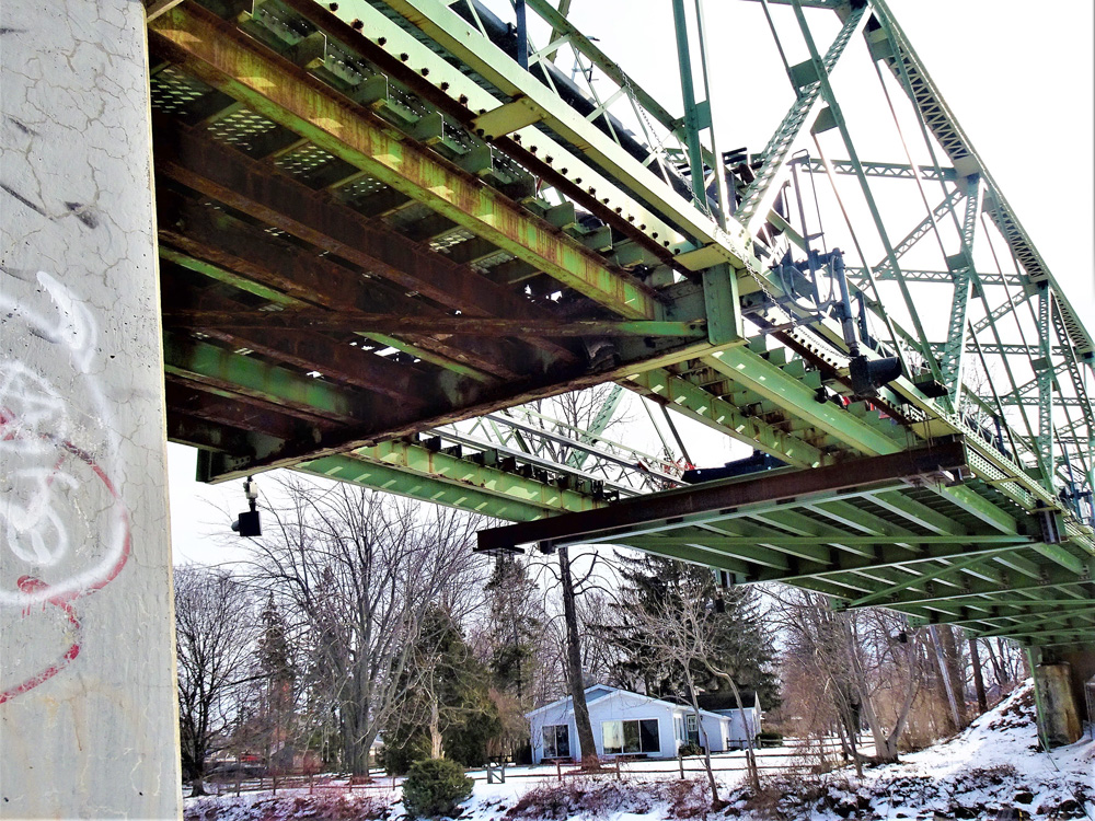 Steel repairs are in progress on the Martha Street bridge. Photos by Ray Kuntz Jr.