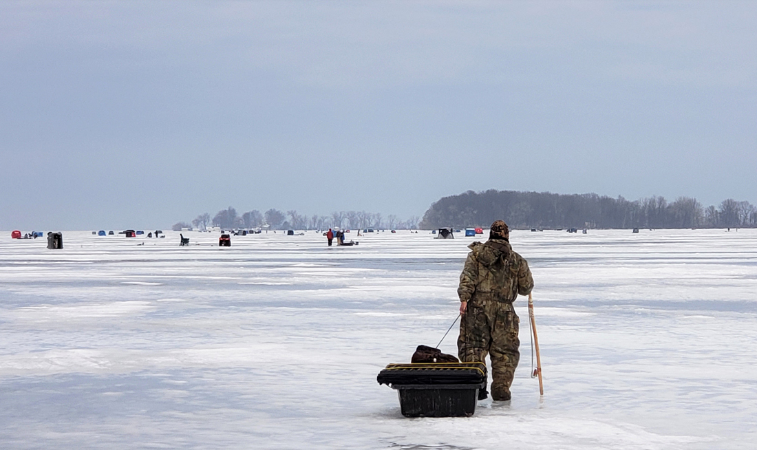 Sodus Bay has enough ice fishermen on it to have its own zip code.