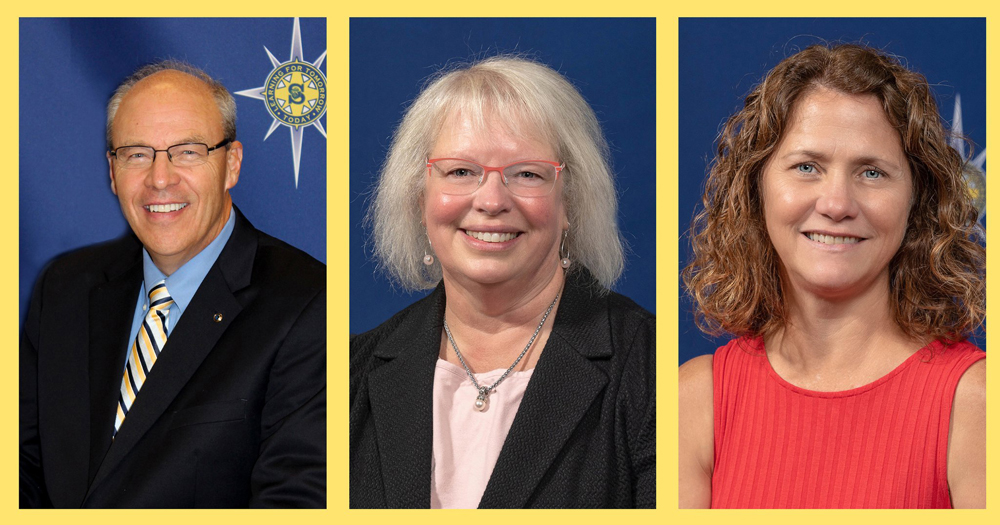 John Pelin, Linda Howell and Dr. Monica Macaluso all plan to retire at the end of the school year.