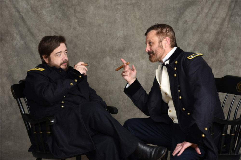 From left to right: professors Derek Maxfied as Ulysses S. Grant and Tracy Ford as William T. Sherman. Provided photo