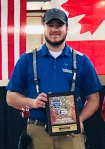 Jacob Patanella, an Alfred State mechanical engineering technology major from Churchville, center, won the championship in the fixed pins class last weekend at the ASA Winter Can Am Classic in Syracuse.