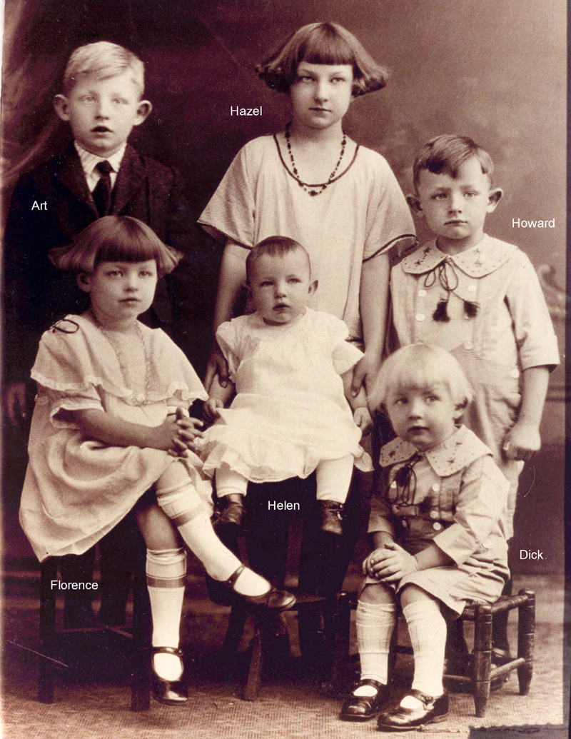 Helen was the sixth of sixteen children. Here she is as a toddler with her five older siblings.