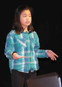 """Amara Murphy, a sixth grader at Northwood Elementary School, did her TED Talk on """"Building Self Confidence."""""""