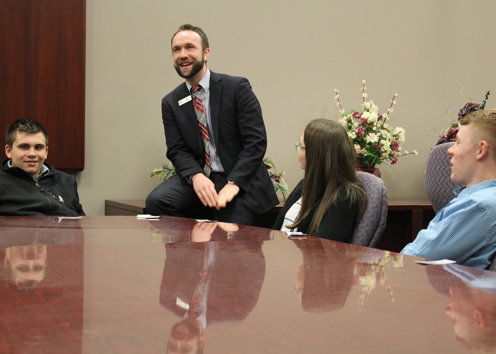 Key Bank manager Caleb Craft spoke about financing and his own personal experiences with exploring business ownership.
