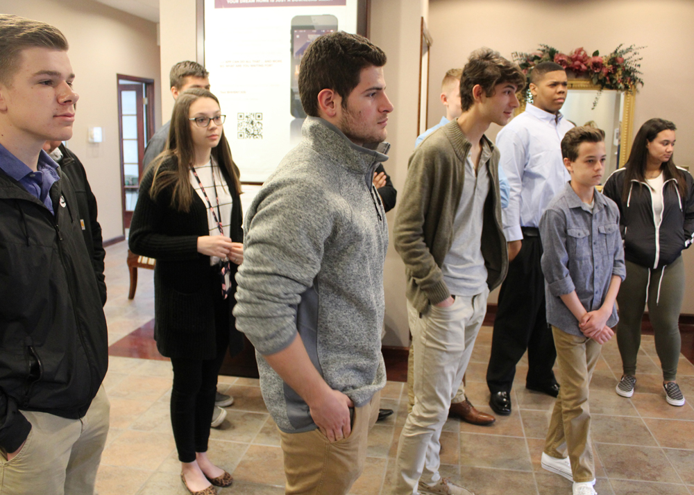 Churchville-Chili students toured the fitness center and related businesses, then moved to the other side of the facility, which houses offices for Berkshire Hathaway, Prudential and other financially-oriented small companies.