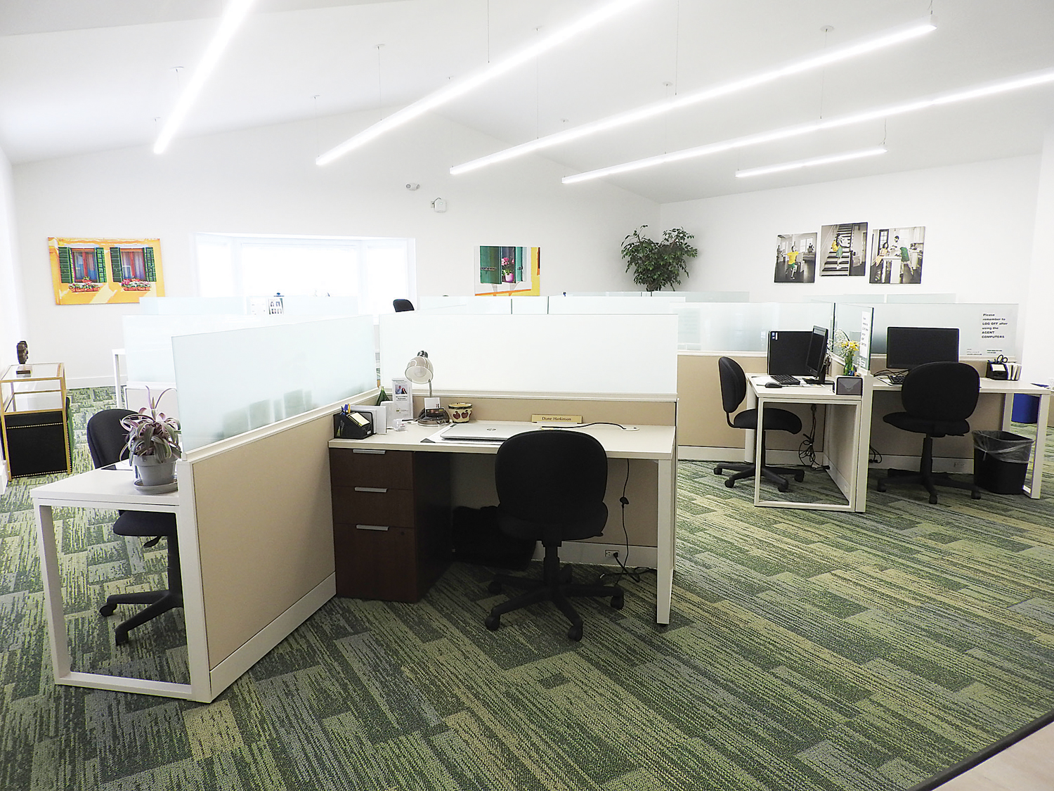 The newly remodeled office has an open work space design. Photo by Karen Fien