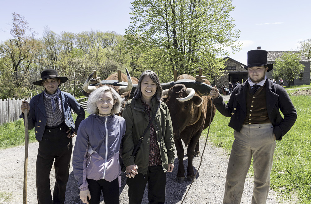 Guests with oxen team. Photo by Cindy El-Gaaly