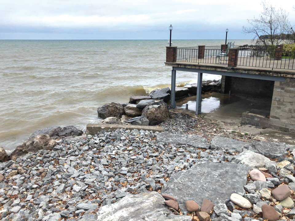 Conditions along the Lake Ontario shoreline on May 12.