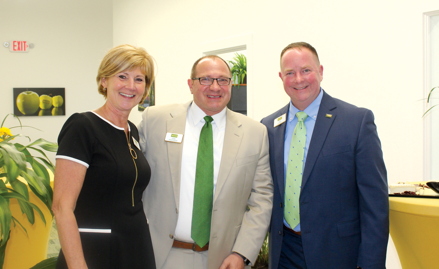 Shown (l-r): Howard Hanna Spencerport Branch Manager Connie Tyson, Rochester Regional Vice President John Majchrzak, and Western New York Corporate Recruiter Dan Powell. Provided photo