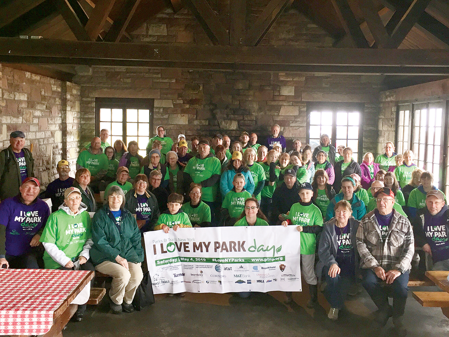 Over 75 volunteers attended this year's I Love My Park Day in Hamlin.
