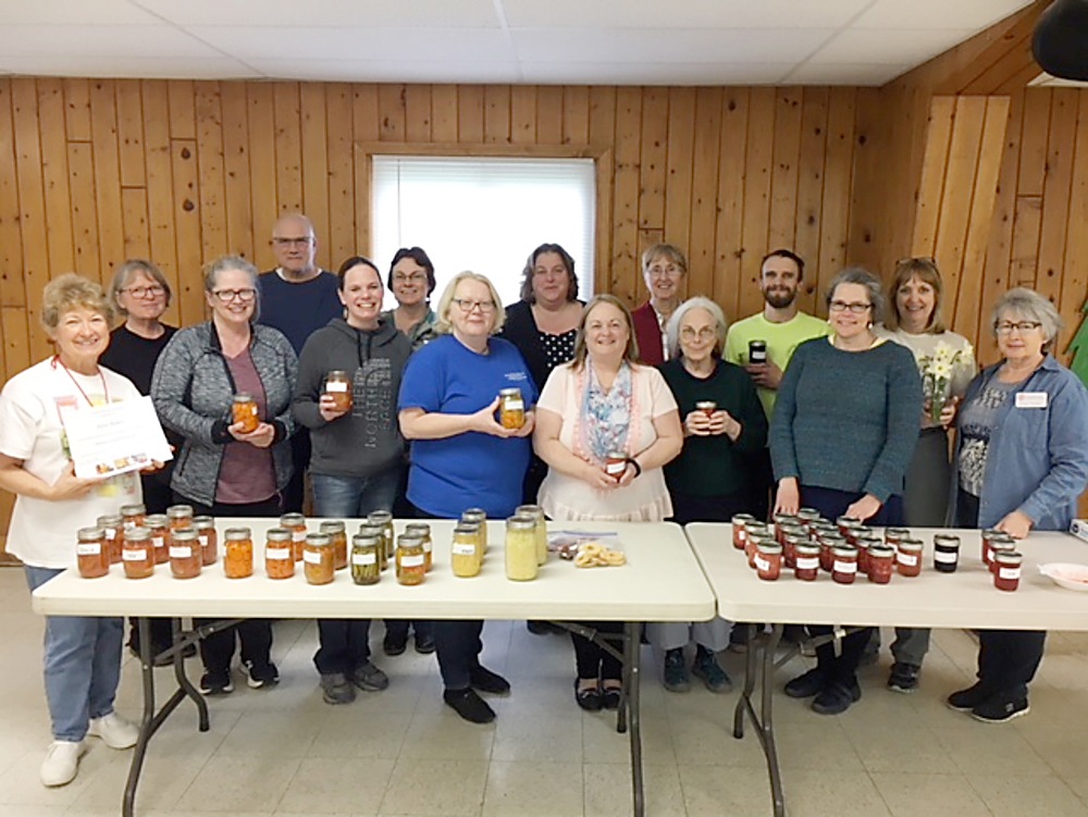 The 2019 Orleans County Master Food Preserver Training class, instructors and volunteers.