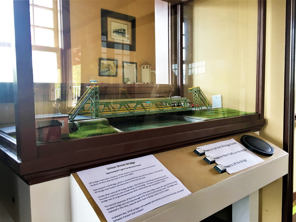 Experience being the Bridge Tender on this model of the Spencerport Lift Bridge.