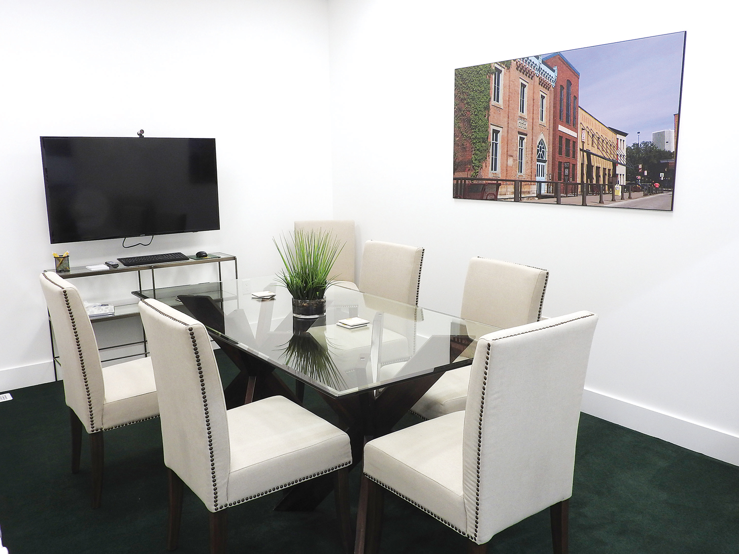 This meeting room benefits clients and agents alike.