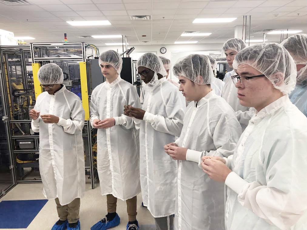 Students learned how contact lenses are manufactured. Photo by Tresia O'Shea