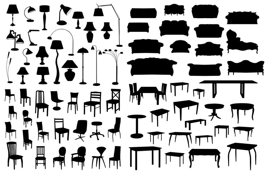 20674735 - set of furniture silhouettes