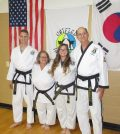 The Kanous family of black belts (l-r): Richard, Nancy, Alicia and Rick.