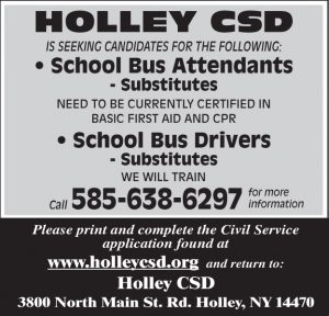 Holley Central School 2 Sub Bus Drivers