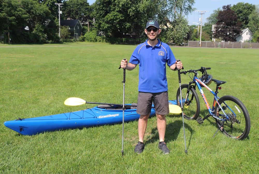 Festival Director Simon Devenish on the site of the Rochester Recreation Festival.