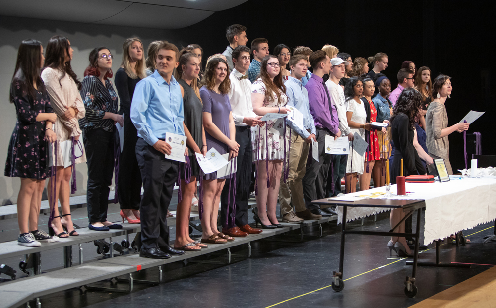 Students who earned the New York State Seal of Biliteracy were recognized during a World Languages Ceremony.
