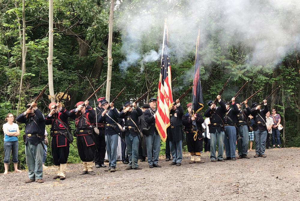 firing muskets 7 12 2019