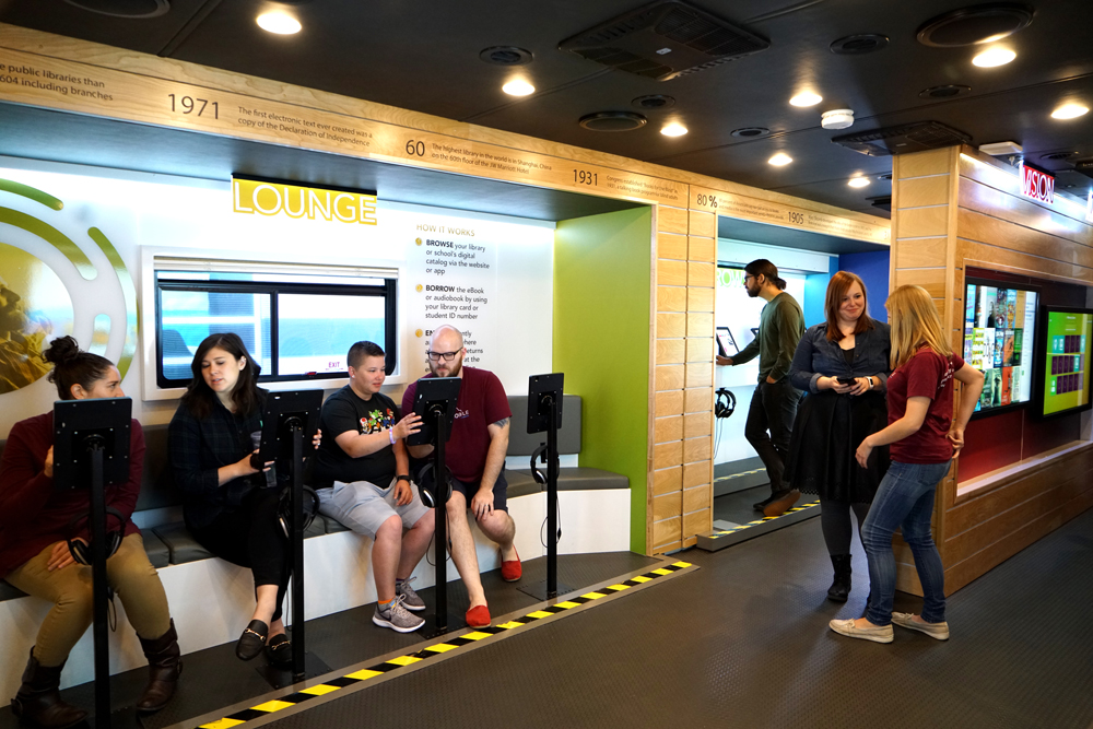 The interactive exhibit will teach readers of all ages how to borrow ebooks, audiobooks and more from their local library.